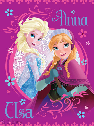 Frozen kertas dinding entitled Elsa and Anna