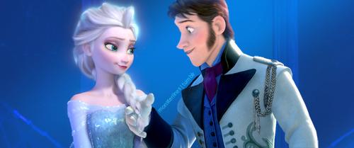겨울왕국 바탕화면 possibly containing a well dressed person and a portrait titled Elsa and Hans