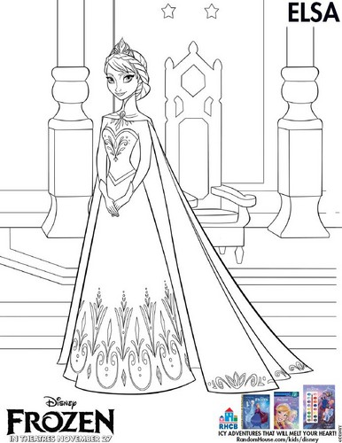 Elsa the Snow Queen wallpaper entitled Elsa coloring page