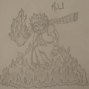 I drew natsu dragneel