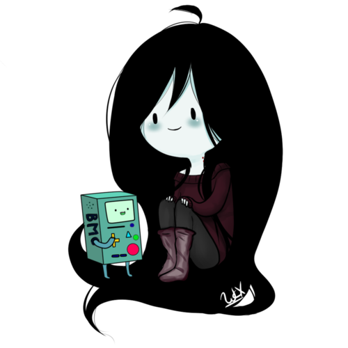 Marceline wallpaper probably containing a laptop called Fanarts with Marceline