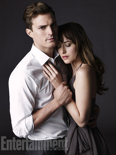 Fifty Shades of Grey Hintergrund containing a business suit titled Jamie and Dakota's first Bilder as Christian and Anastasia