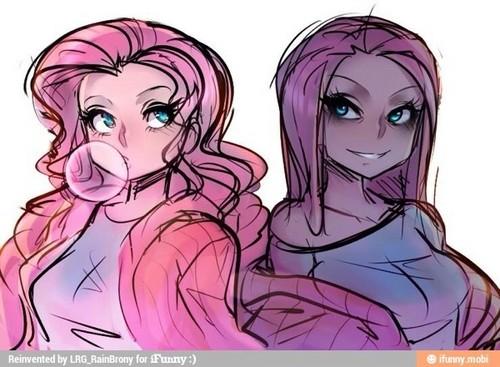 Pinkie Pie CreepyPasta karatasi la kupamba ukuta possibly containing anime titled Found on Googel