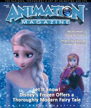 Frozen Animation Magazine Cover