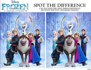 Frozen - Uma Aventura Congelante - Spot the Difference