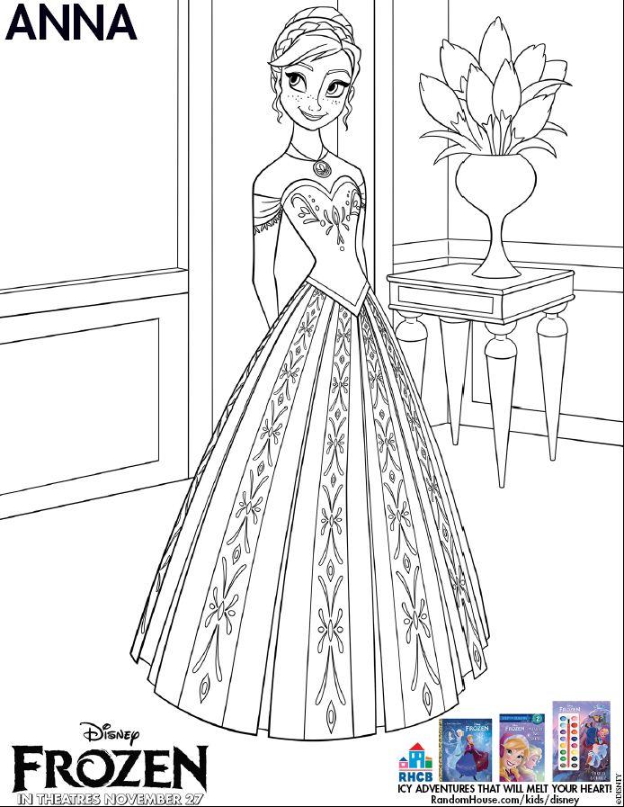 Nữ hoàng băng giá coloring page