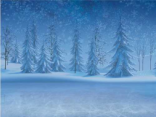 Frozen kertas dinding possibly with a douglas fir and a ponderosa titled Frozen digital painter backgrounds