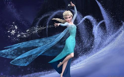 Frozen Hintergrund entitled Elsa Hintergrund