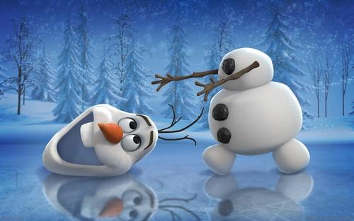 Frozen kertas dinding entitled Olaf kertas dinding