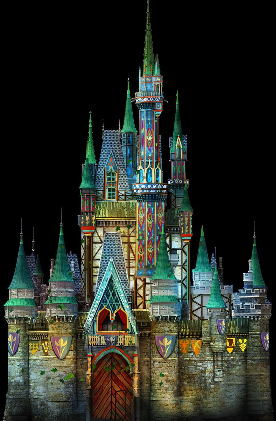 Cinderella Castle Tranforms into Arendelle