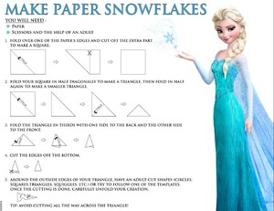 Frozen make paper snowflakes