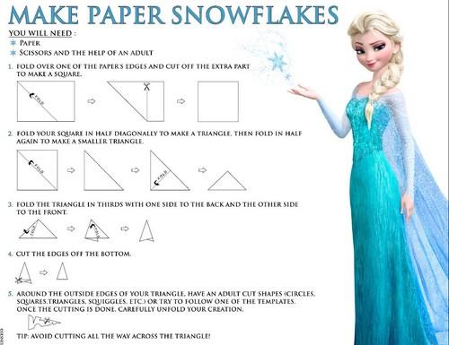 Elsa und Anna Hintergrund titled Frozen make paper snowflakes