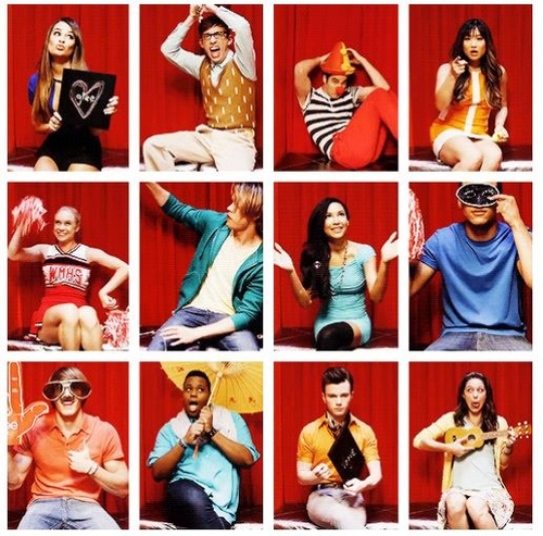 Glee wallpaper possibly containing a stained glass window and anime entitled Glee , Cast