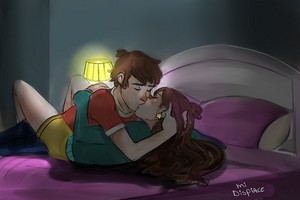 Dipper and Mabel kiss