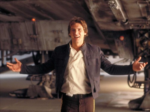 Harrison Ford achtergrond possibly with a business suit and a straat titled Harrison in ster Wars:Empire strikes back