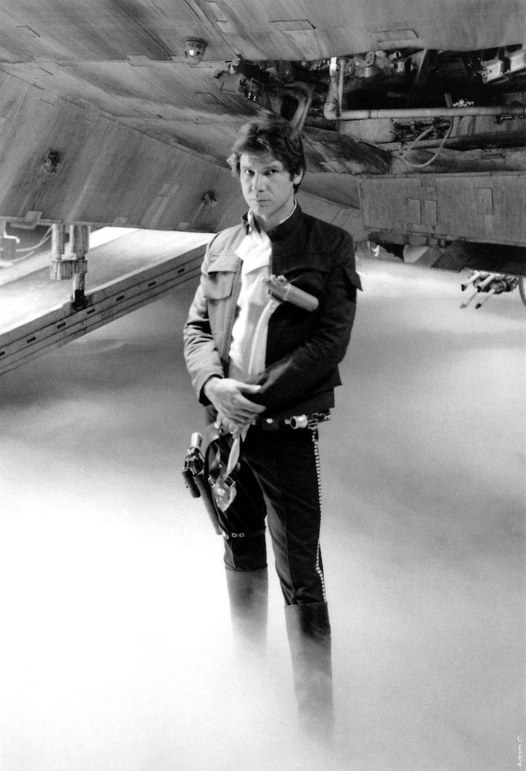 Harrison in étoile, star Wars:Empire strikes back