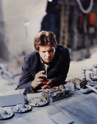 Harrison Ford wallpaper possibly containing a dinner table called Harrison in Star Wars:Empire strikes back
