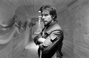 Harrison in étoile, star Wars:Empire strikes back