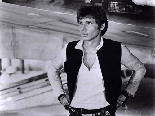 Harrison Ford achtergrond probably with a business suit, a hip boot, and a straat entitled Harry in ster Wars:New Hope