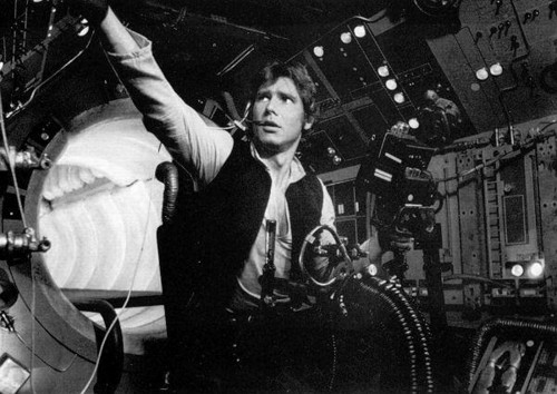 Harrison Ford वॉलपेपर possibly with an internal combustion engine and a सड़क, स्ट्रीट titled Harry in तारा, स्टार Wars:New Hope