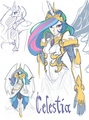 Human celestia  - my-little-pony-fim-fan-characters fan art