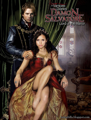 Ian Somerhalder and Nina Dobrev as Damon and Elena in Damon Salvatore: Lord of the Manor