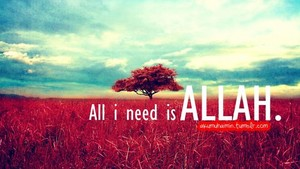 All i need is Allah