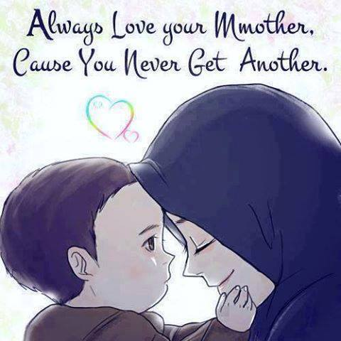 Islam wallpaper probably containing anime entitled I love you mom