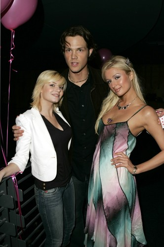 Jared Padalecki wallpaper possibly with a cocktail dress entitled  Paris Hilton's 24th Birthday Party