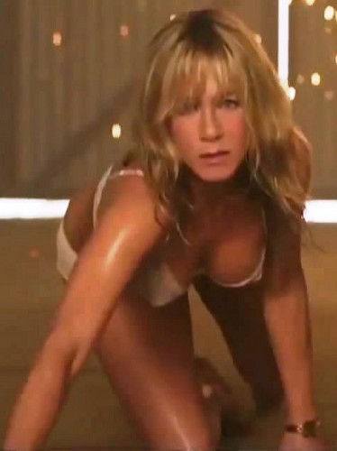 Jennifer Aniston wallpaper probably containing bare legs, a leotard, and tights entitled Jen