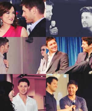 Jensen & Danneel // Jensen & Misha