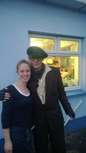 Johnny Depp & Cillian Murphy in Ireland, Nov.3, 2013