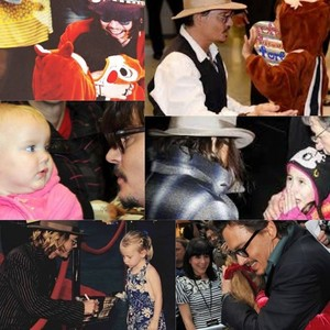 Johnny with little fans...so sweet ❤❤❤