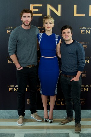 The Hunger Games: Catching آگ کے, آگ Madrid - Photocall