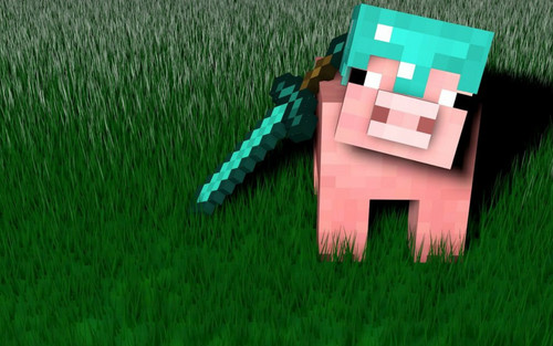 minecraft wallpaper called Joshua's Pig Icon.jpg