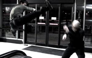 Karate stunts Tamas Menyhart