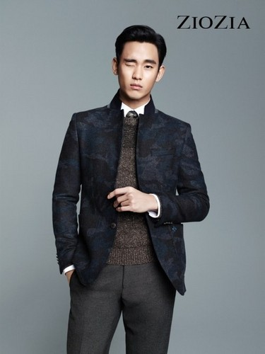 Kim SooHyun wallpaper with a business suit, a suit, and a well dressed person called Kim Soo Hyun for 'ZIOZIA'