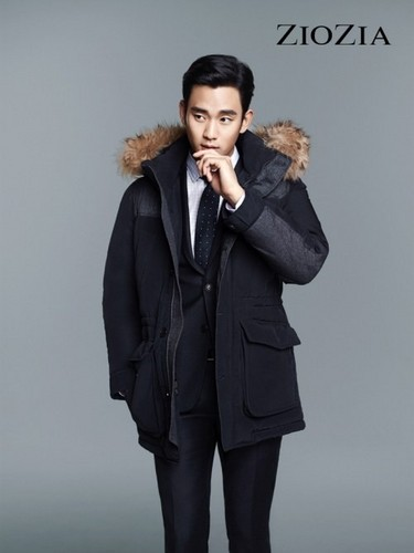 Kim SooHyun wallpaper containing a business suit, a suit, and a well dressed person called Kim Soo Hyun for 'ZIOZIA'