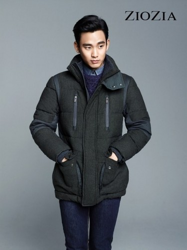 Kim SooHyun wallpaper possibly with an outerwear, a jacket, and a box coat titled Kim Soo Hyun for 'ZIOZIA'