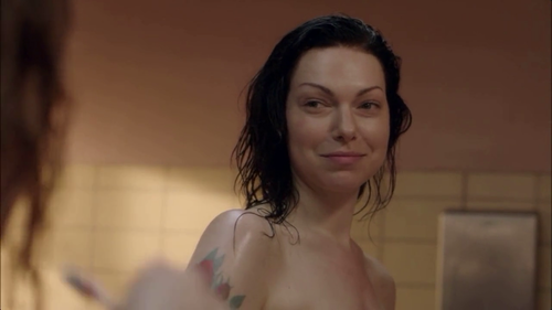 Laura Prepon پیپر وال containing skin entitled Laura Prepon in مالٹا, نارنگی is the new Black