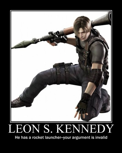 Leon Kennedy 바탕화면 possibly containing a 라이플 총병, 라이플 맨, 라이플 총 병 and a navy 봉인, 인감 called Leon S. Kennedy