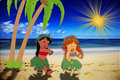 Lilo And Ariel - beaches fan art
