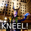 KNEEL before Loki - loki-thor-2011 fan art