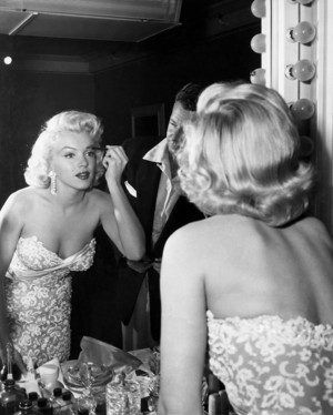 Marilyn Doing Her Makeup
