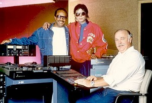 Michael In The Recording Studio With Quincy Jones