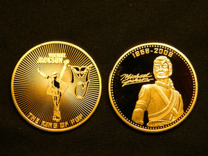 Michael Jackson Commemorative emas Coins