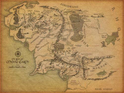 द लॉर्ड ऑफ द रिंग्स वॉलपेपर entitled Middle Earth