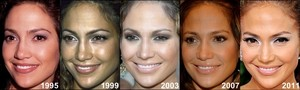 Jennifer Lopez through the years