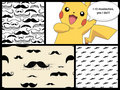 Mustaches and Pikachu - pikachu fan art