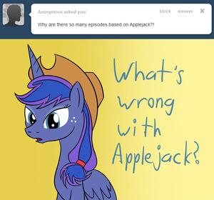 Luna as applejack کی, اپپلیجاک